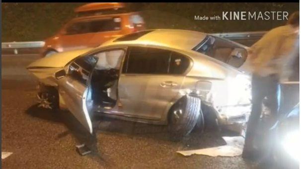 «Лексусу» оторвало два колеса в жёстком ДТП в Приморье