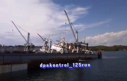 На судоремонтном заводе в Приморье рухнул огромный кран — очевидцы