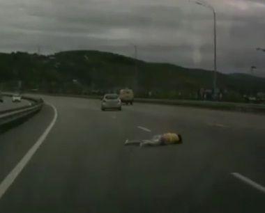 Шокирующее ДТП: девушку выбросило на дорогу из салона авто в Приморье
