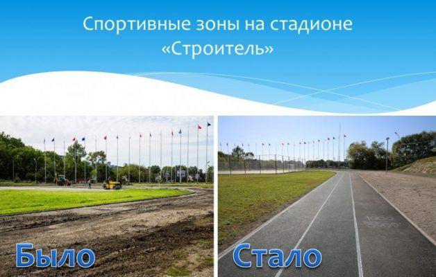 На стадионе «Строитель» во Владивостоке провели капремонт