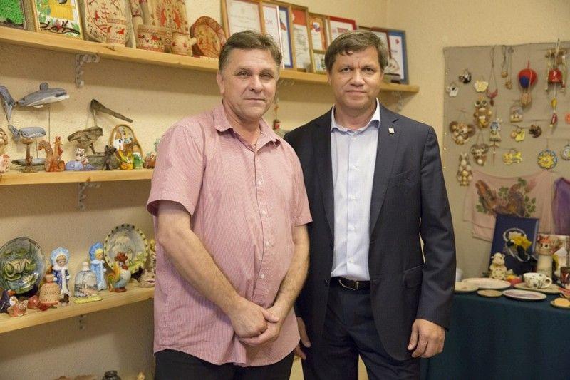 Виталий Веркеенко и Геннадий Антропов. Фото: Анастасия Котлярова, пресс-служба администрации Владивостока
