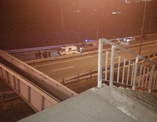 Из-за обрушения виадука во Владивостоке движение на трассе Де-Фриз-Седанка-Патрокл ограничено