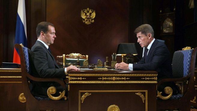 Кожемяко — Медведеву: в течение нескольких лет проблему подтоплений в Приморье можно решить кардинально