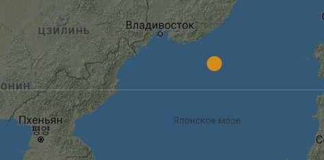 В 288 км от Владивостока произошло землетрясение