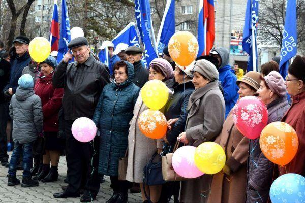 О любви к родине говорили и пели на праздновании Дня народного единства в Уссурийске