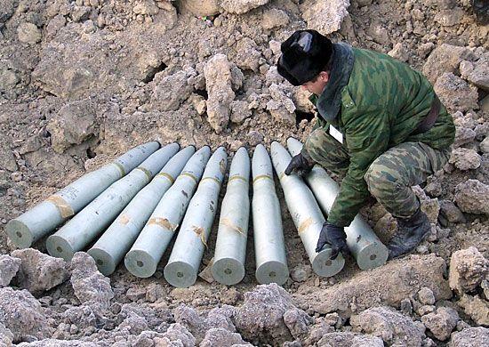 В Спасском районе Приморья утилизируют боеприпасы с бывшей военной базы