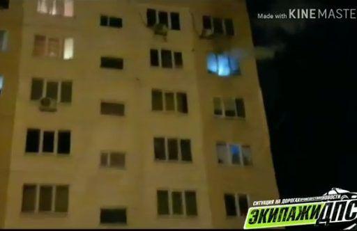 Женщина с ребёнком выпрыгнула с восьмого этажа, спасаясь от пожара во Владивостоке