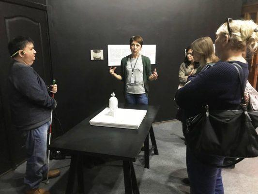 В Приморском музее имени Арсеньева прошла экскурсия для слабовидящих