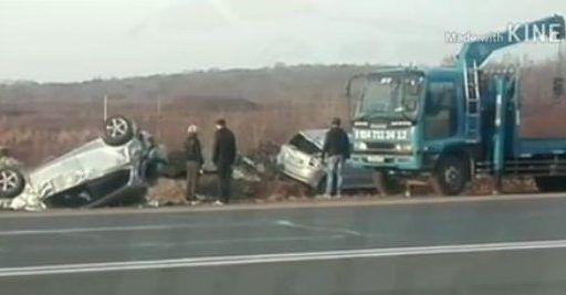 Сразу три автомобиля попали в ДТП в Приморье