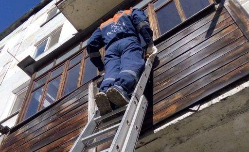 Лестница потребовалась спасателям Приморья, чтобы помочь женщине с инсультом