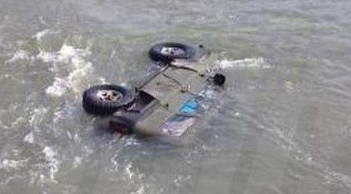 В Приморье под воду ушёл российский микроавтобус