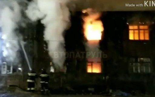 Многострадальный барак вновь загорелся во Владивостоке