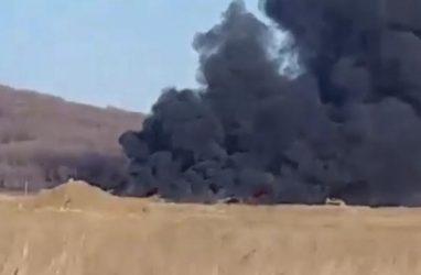 Страшный пожар в районе очага ящура напугал приморцев