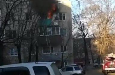 В Приморье в жутком пожаре в квартире погиб человек