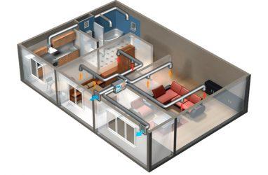 Строительство коттеджа: монтаж системы вентиляции и кондиционирования