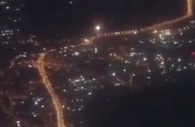 Владивосток в огне фейерверков: необычное видео сняли на борту самолёта