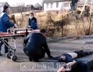Жуткое ДТП с пожаром в Приморье: машина перелетела магазин и сгорела