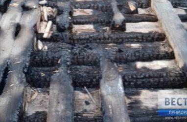 В Приморье злоумышленники сожгли мост