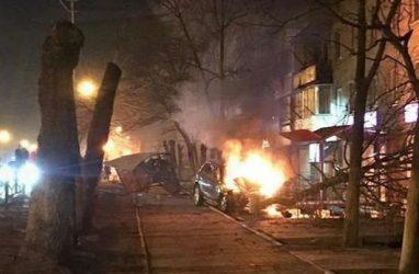 Жуткое ДТП в Приморье: после удара машина загорелась