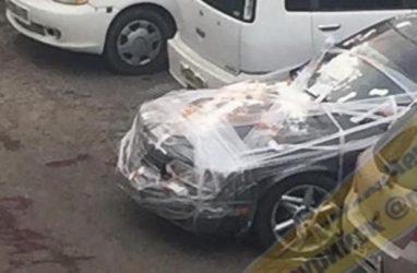 В Приморье машины обнаружили завёрнутыми в плёнку