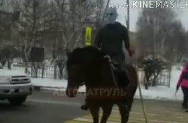 «Игра престолов» в Уссурийске: в городе заметили Короля ночи верхом на коне — видео
