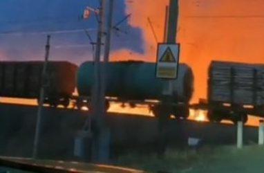 В Приморье палы подошли к АЗС и железной дороге