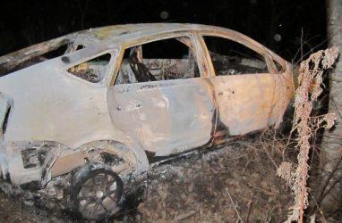 Мужчину задушили и сожгли в собственном автомобиле в Приморье