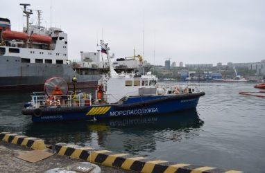 Морская спасательная служба провела учение в порту Владивосток