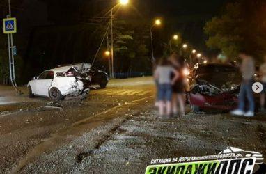 В Приморье автомобилистка на высокой скорости «влетела» в «Марк II»