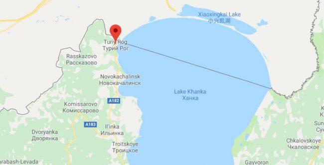 Турий Рог на карте