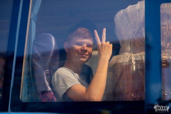 Мальчик, юмор, позитив, автобус