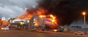 Пожар в тц Максим