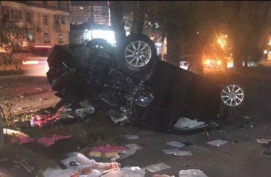 Пьяная автомобилистка перевернулась на крышу во Владивостоке