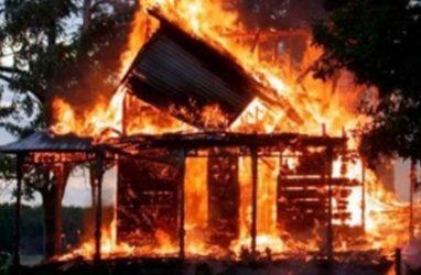 В Приморье произошёл пожар в частном доме