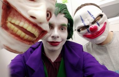 «Банда» клоунов во главе с Джокером «напала» на библиотеку во Владивостоке