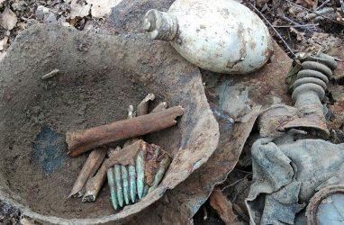 Останки двух бойцов Красной Армии обнаружили в Приморье у озера Хасан
