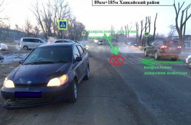 В Приморье автомобиль сбил ребёнка на пешеходном переходе