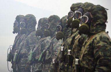 В Приморье армейское соединение РХБ защиты провело специальную тренировку