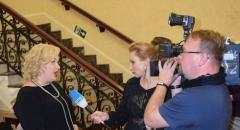 """Директор Приморской краевой филармонии Анна Алеко дает интервью """"Общественному телевидению Приморья"""""""