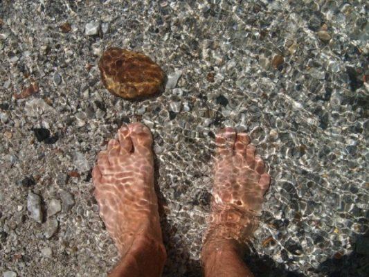 река, вода, ноги