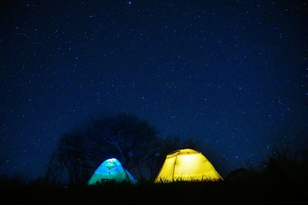палатка, небо, ночь