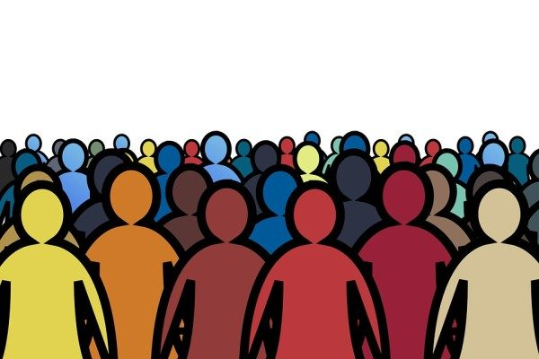 толпа, люди, собрание