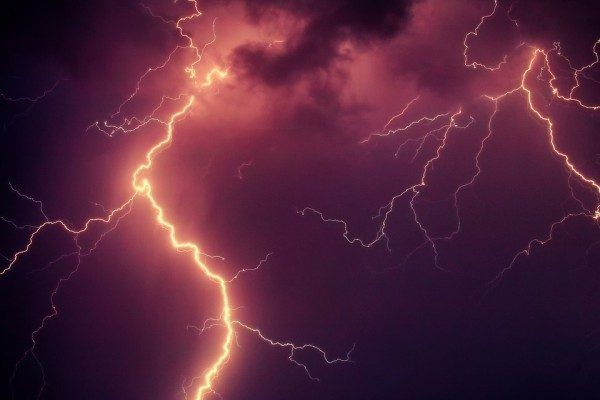 Молния, гроза, дождь, гром, тайфун