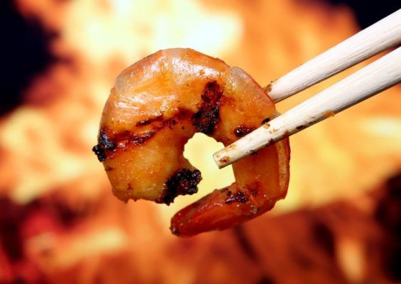Креветка, морепродукты, ресторан, кафе, китайские палочки, еда
