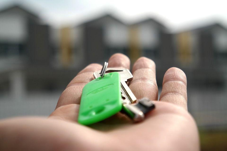 Ключ, жилье, квартира, дверь, рука, ключи