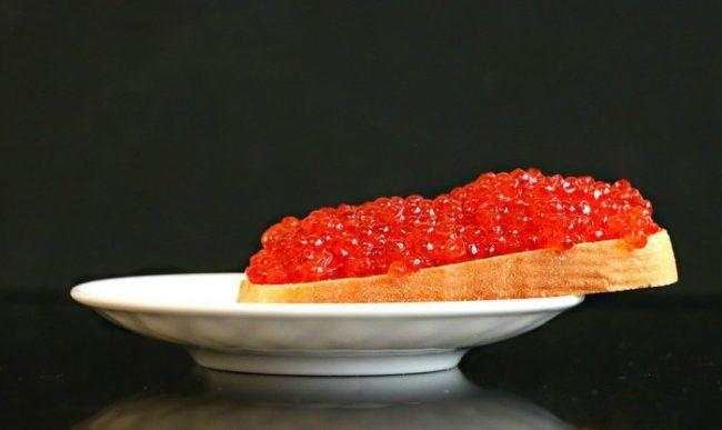 Красная икра, деликатес, бутерброд, еда