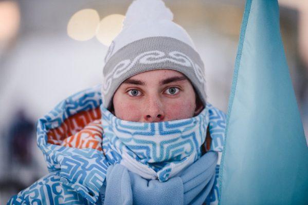 Холод, зима, молодежь