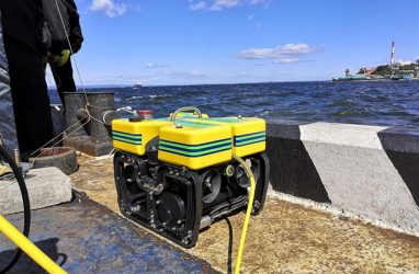 Russian security forces competed in the management of underwater robots