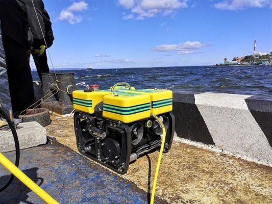Подводный аппарат, робот, море