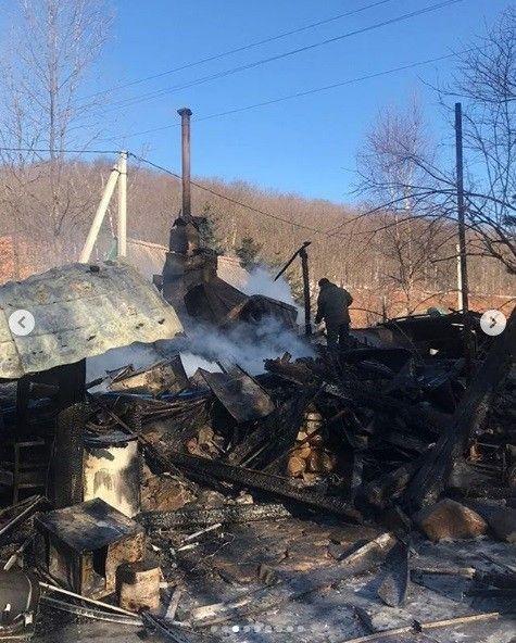 Сгорел дом в Сиреневке, пожар
